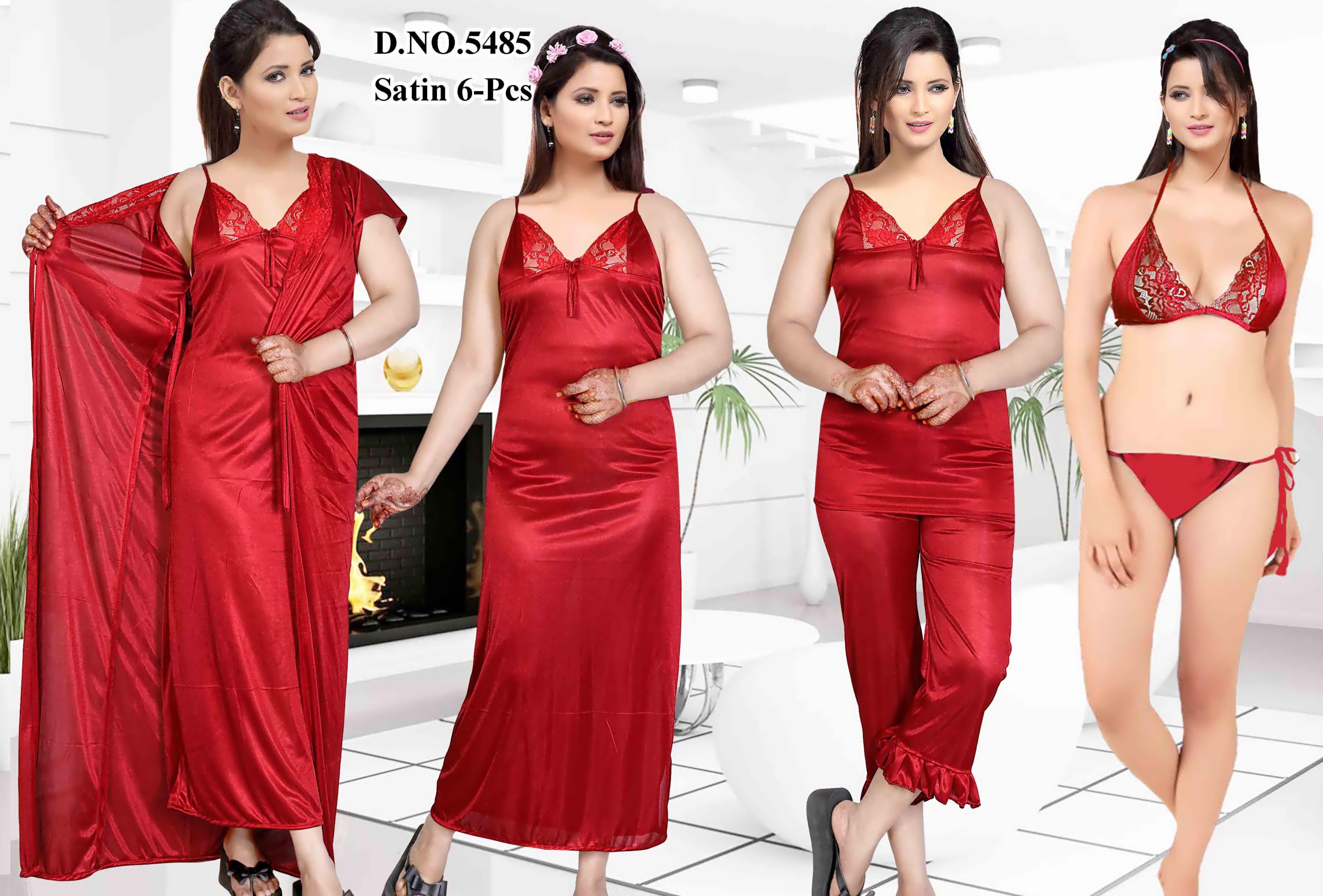 ec9e14b375f Women Nightwear Red( 2 Pcs Set)